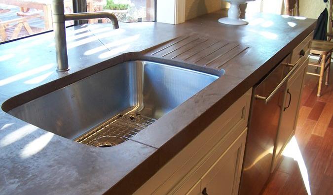Examples of concrete countertops done right designcast concrete